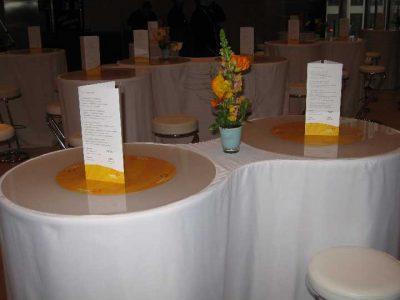 Tisch als 8, Kanadische Botschaft: Event Agentur creative Service Drummer, Berlin