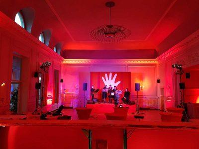 Band auf Bühne: Event Agentur creative Service Drummer Berlin