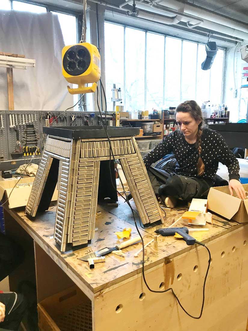 Eiffelturm L`Oreal Paris bauen Teil 1: Event Agentur creative Drummer, Berlin
