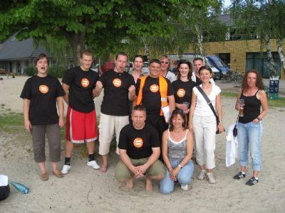 Gruppenfoto Kunden: Event Agentur creative Service Drummer, Berlin