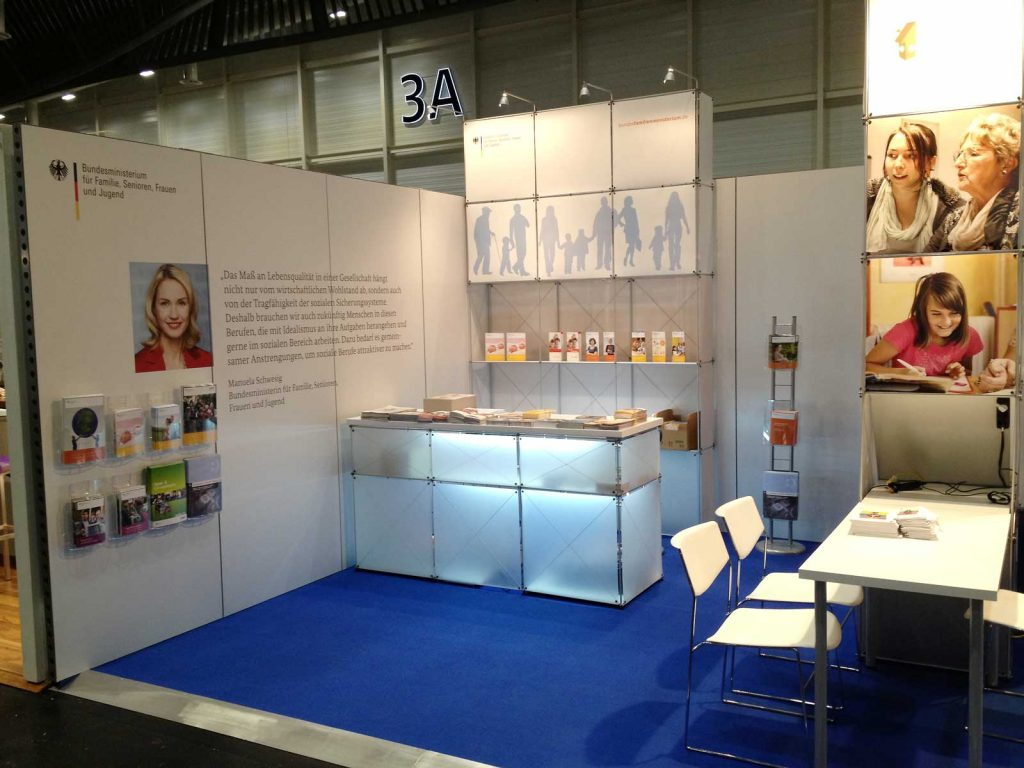 Exhibition stand ministry: Event Agency creative Service Drummer, Berlin