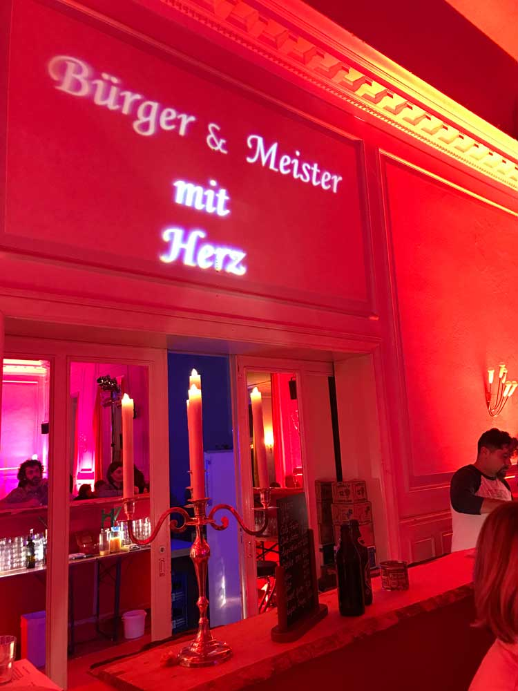 Projektion an Wand: Event Agentur creative Service Drummer, Berlin: