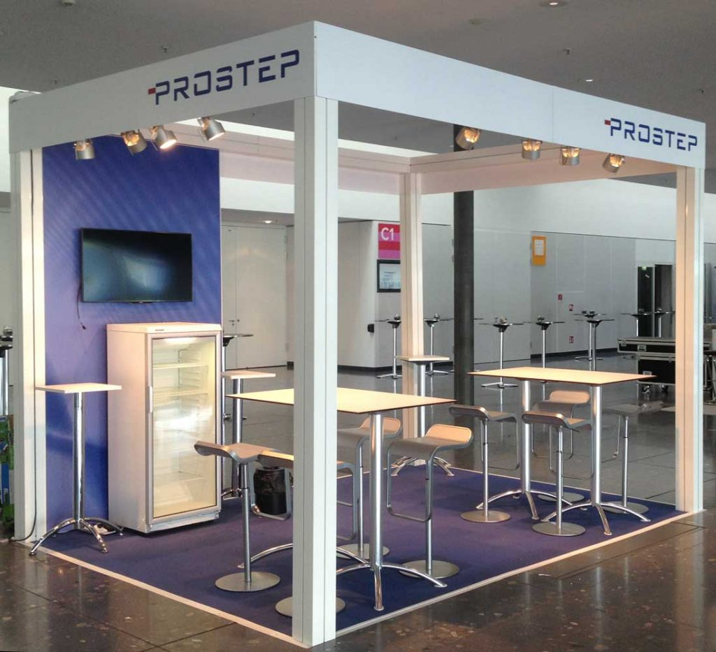 Prostep exhibition stand: Event Agency creative Service Drummer, Berlin