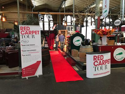 Red-Carpet-Tour Banner: Event Agentur creative Service Drummer, Berlin