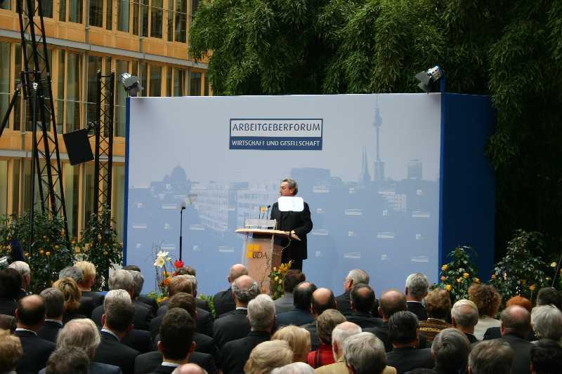 Rede vor Publikum BDA Arbeitgeberforum: Event Agentur creative Service Drummer, Berlin