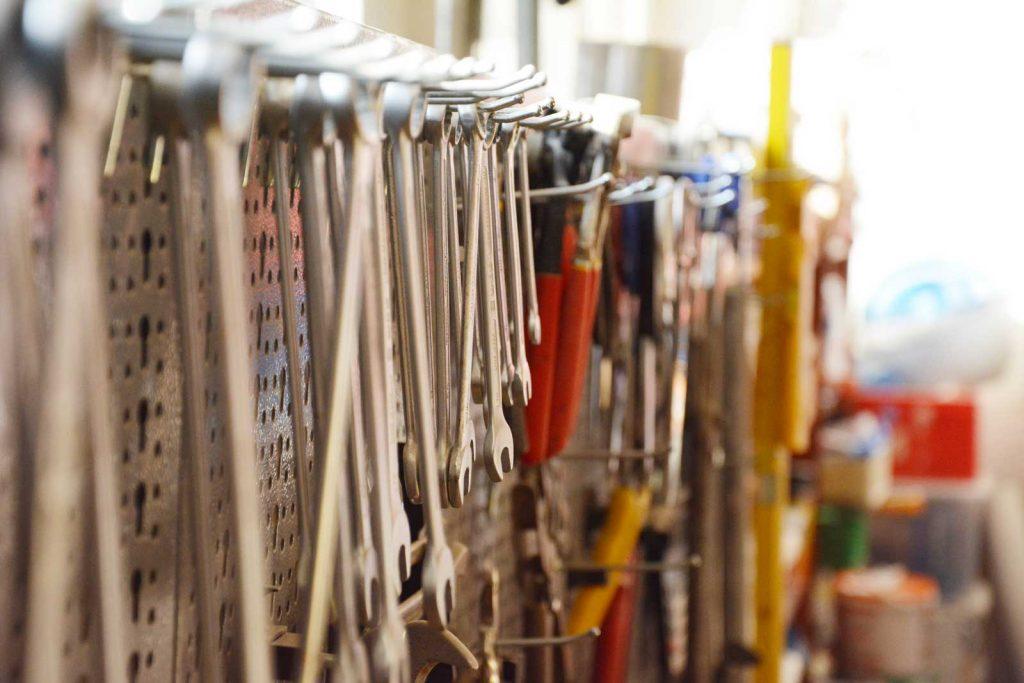 Werkzeuge in Werkstatt: Event Agentur creative Service Drummer, Berlin