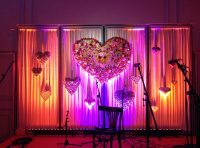 illuminated back drop arrangement: Event Agency creative Service Drummer, Berlin
