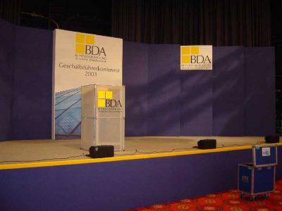 Bühne BDA Arbeitgeberforum: Event Agentur creative Service Drummer, Berlin