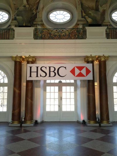 HSBC Bank: Event Agentur creative Service Drummer, Berlin