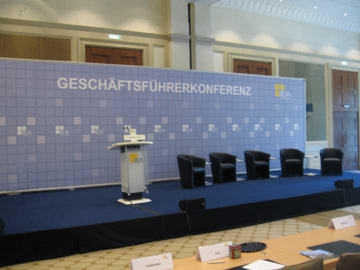 Podium BDA Arbeitgeberforum: Event Agentur creative Service Drummer, Berlin