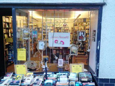 Schaufenster Bücherladen: Event Agentur creative Service Drummer, Berlin