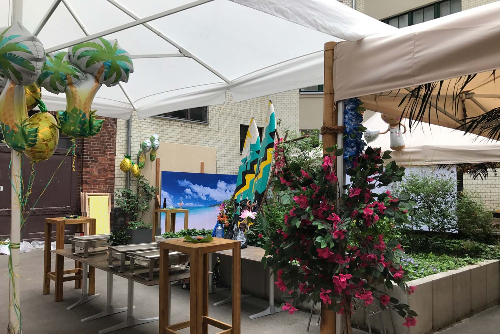 Hawaii Dekoration Event Agentur creative Service Drummer, Berlin