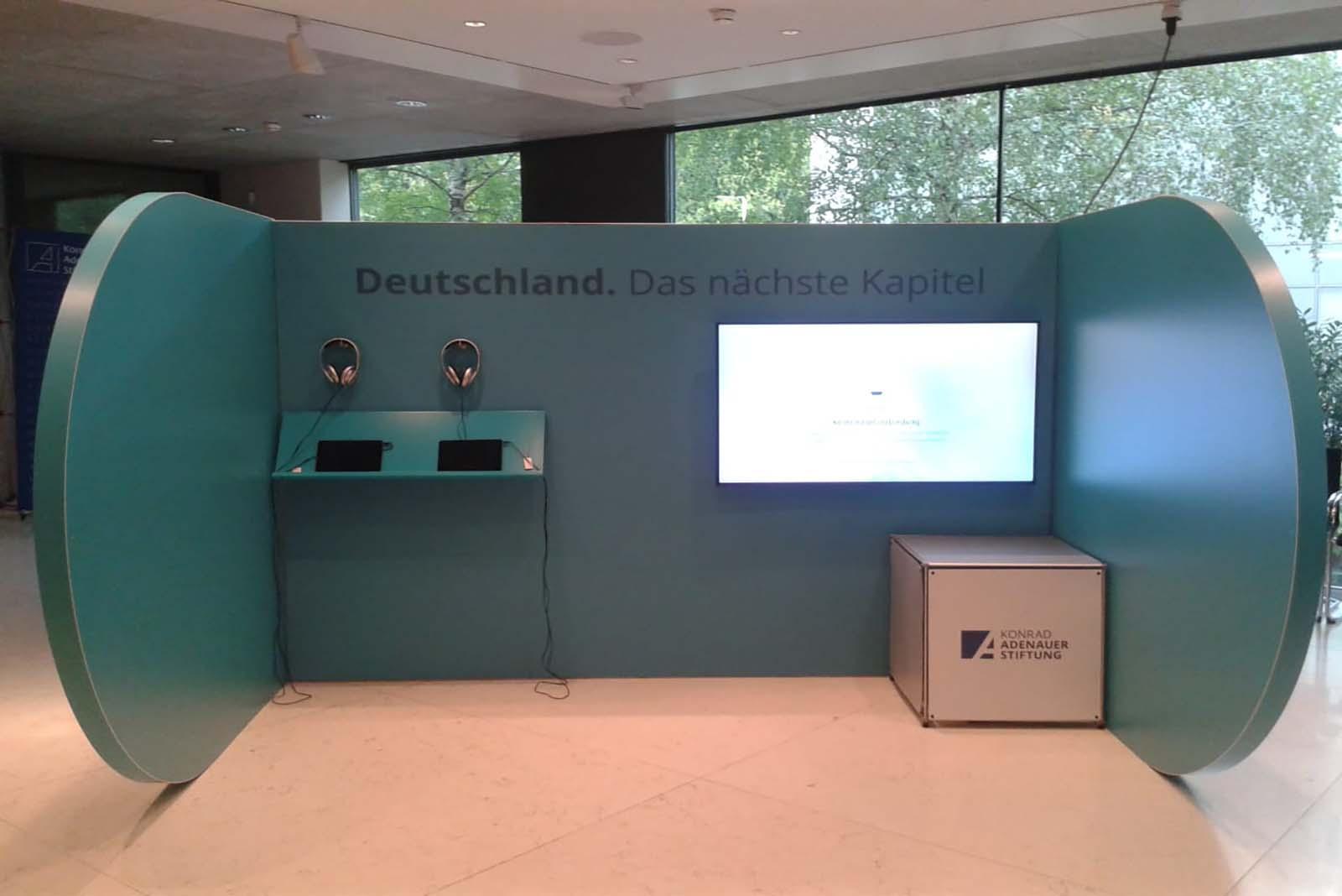 Konrad Adenauer Stiftung D-Modul Innen Event Agentur creative Service Drummer, Berlin