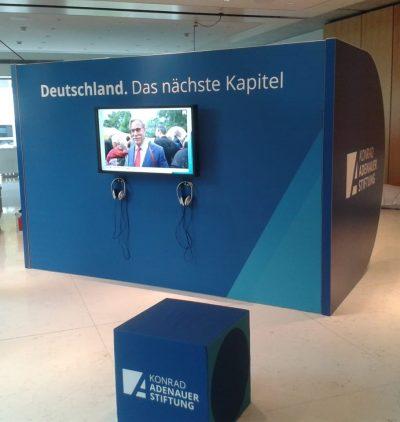 Konrad Adenauer Stiftung D-Modul Außen Event Agentur creative Service Drummer, Berlin